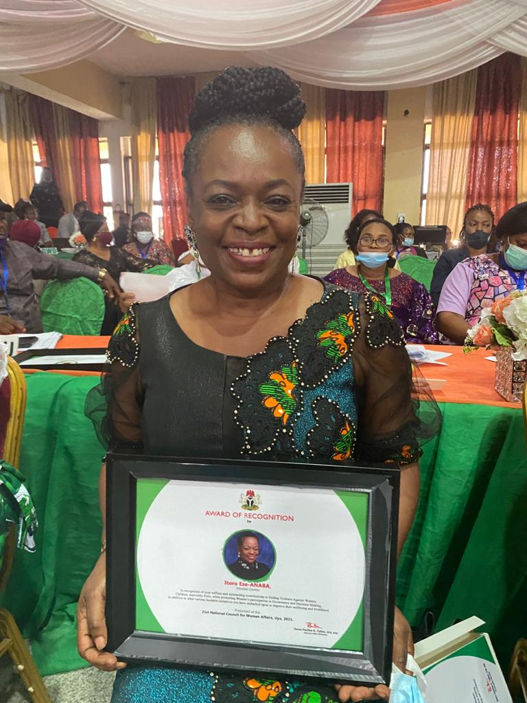 Ministry of Women Affairs Honours Itoro Eze-Anaba With Award